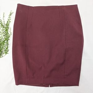 Express Maroon Pencil Skirt